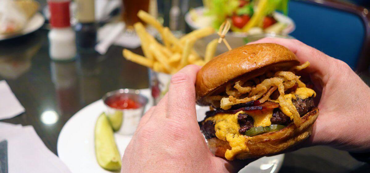 East Bank Club Grill BBQ Burger