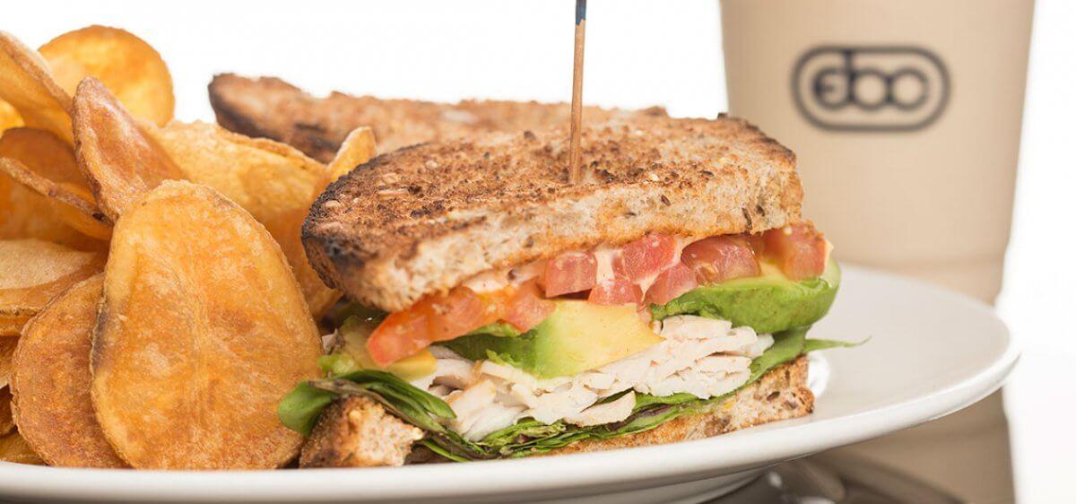 East Bank Club Grill Turkey Sandwich